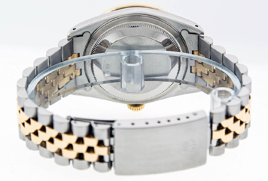 Rolex Mens 2 Tone 14K Black String VS Diamond Datejust - 9