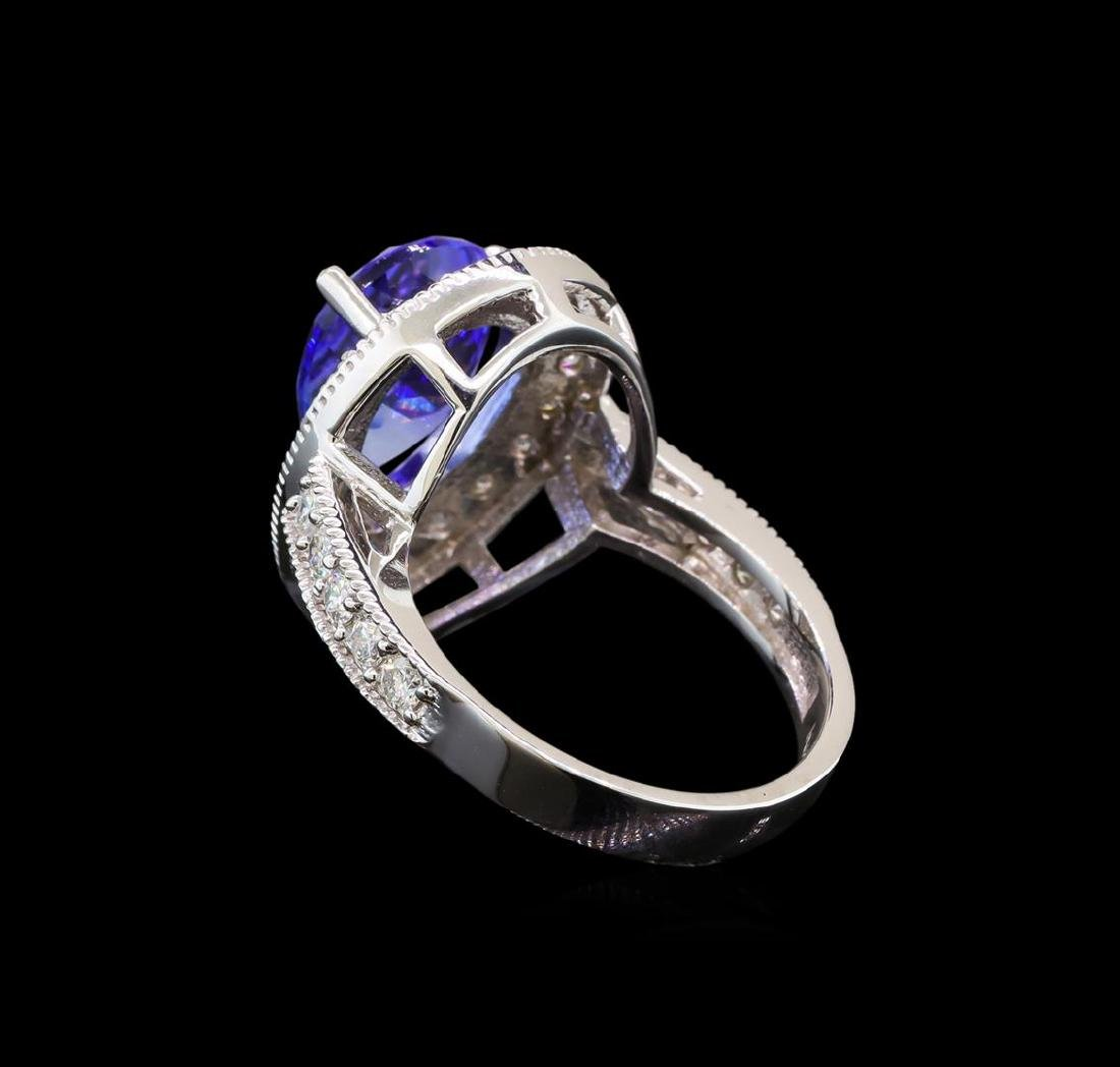 14KT White Gold 4.26 ctw Tanzanite and Diamond Ring - 3