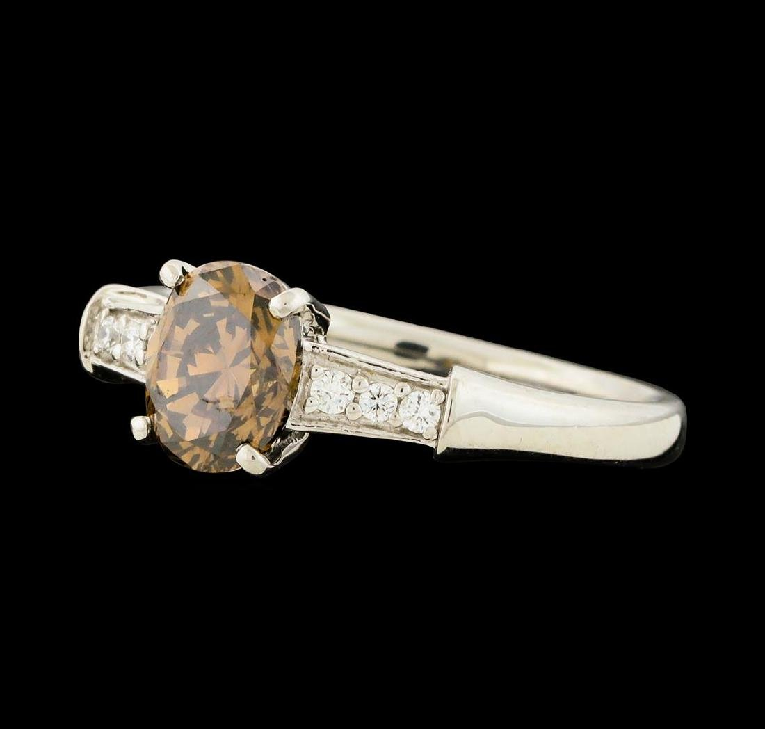 1.20 ctw Fancy Brown Diamond Ring - Platinum