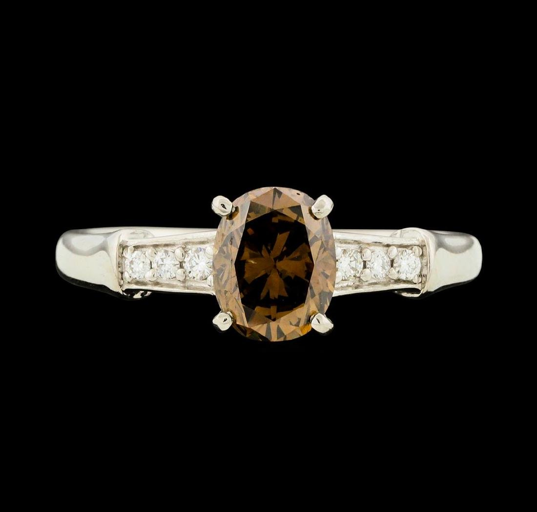 1.20 ctw Fancy Brown Diamond Ring - Platinum - 2