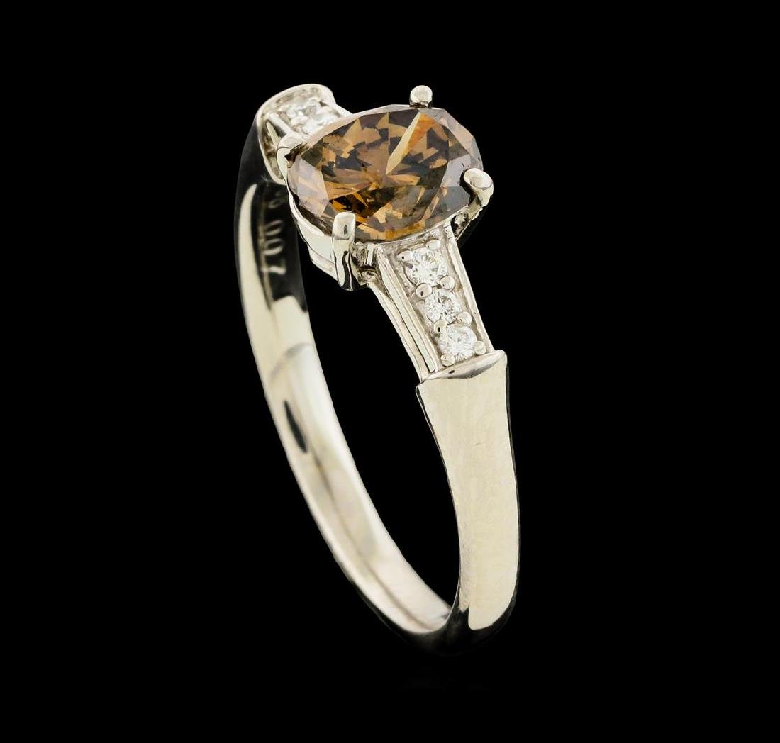 1.20 ctw Fancy Brown Diamond Ring - Platinum - 4