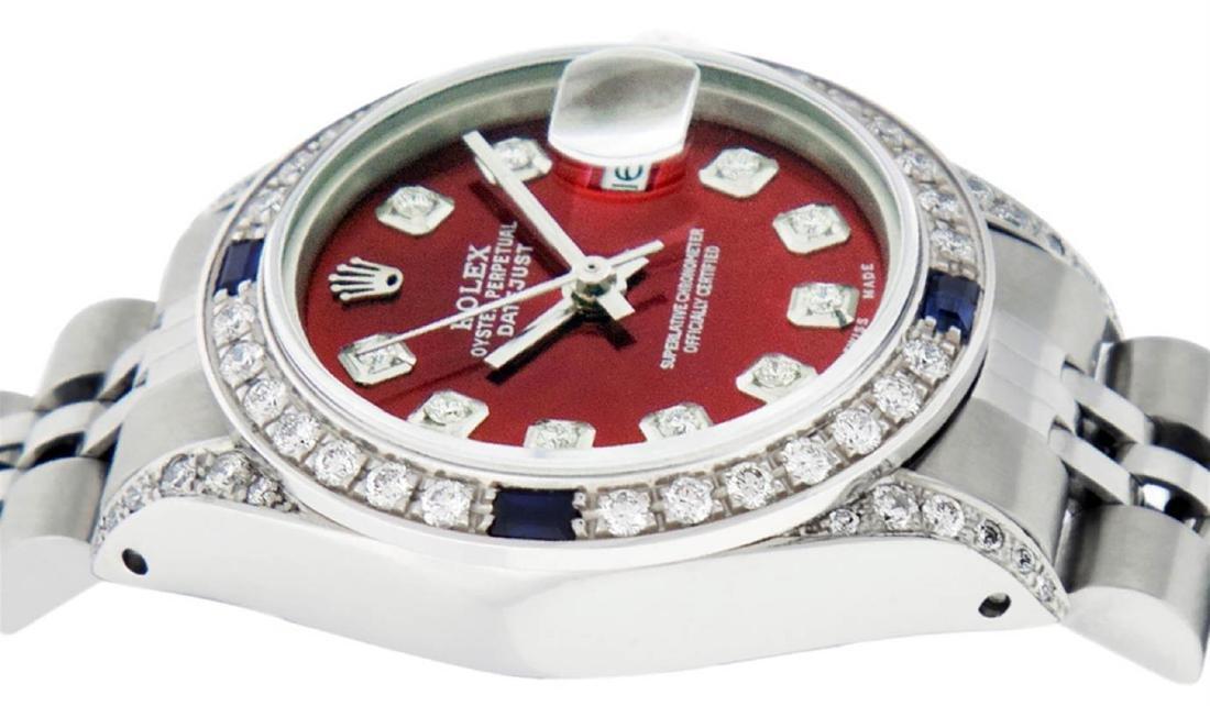 Rolex Ladies Stainless Steel Diamond Lugs & Sapphire - 4