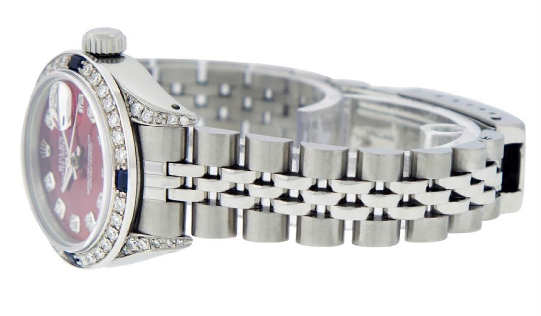 Rolex Ladies Stainless Steel Diamond Lugs & Sapphire - 5