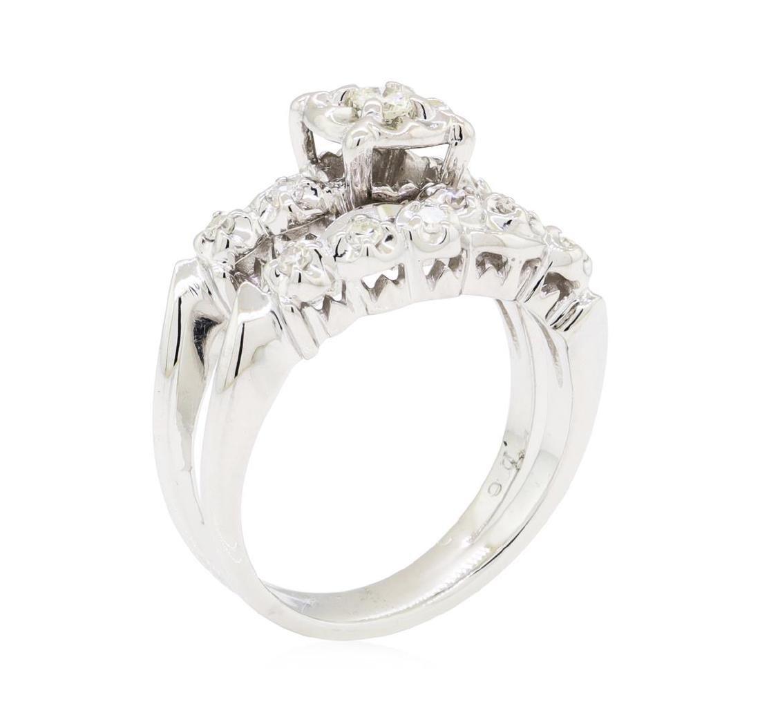 0.35 ctw Diamond Ring - 14KT White Gold - 4