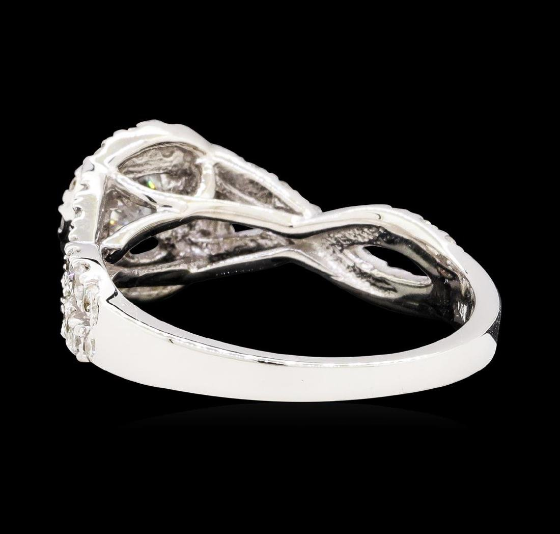 1.00 ctw Diamond Ring - 14KT White Gold - 3