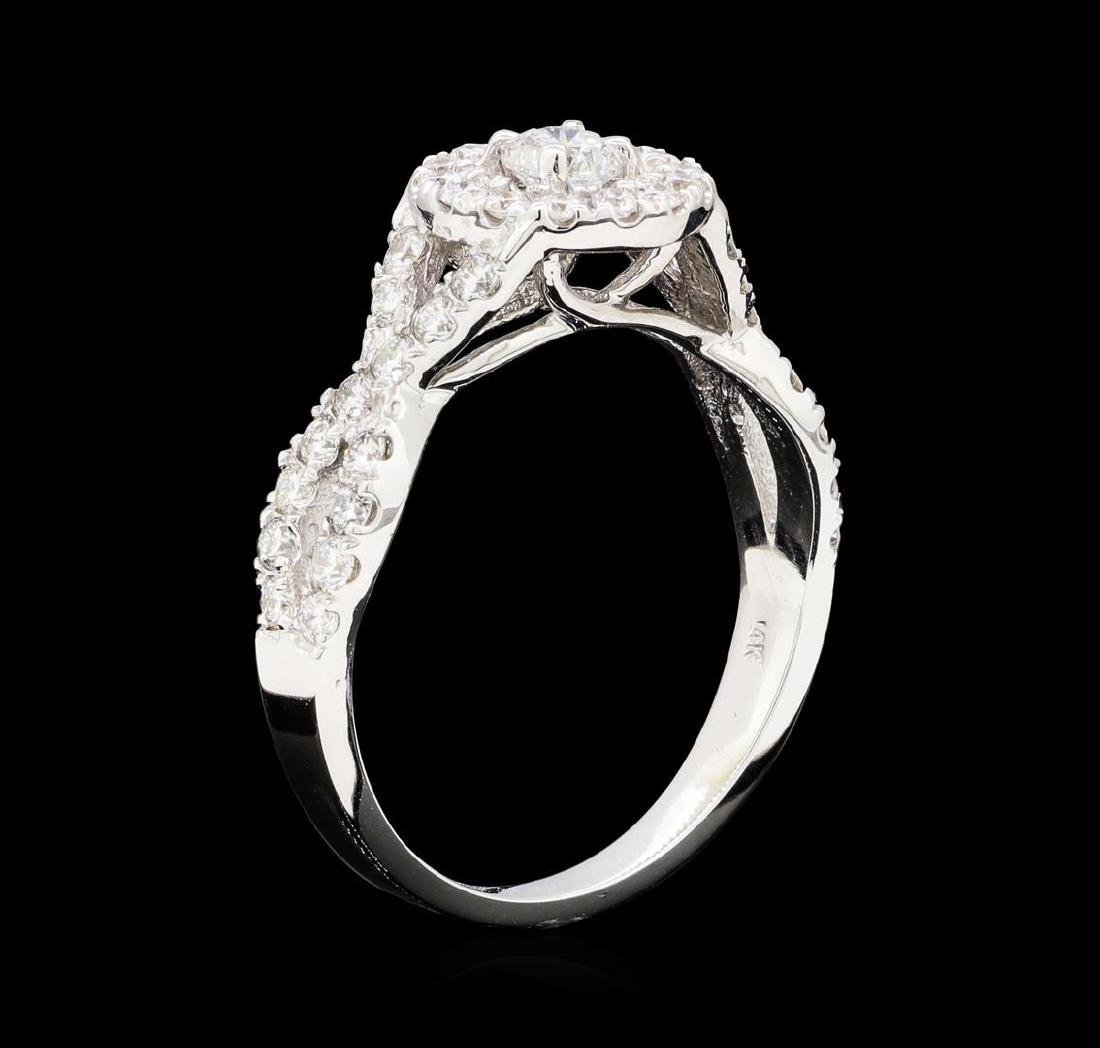 1.00 ctw Diamond Ring - 14KT White Gold - 4