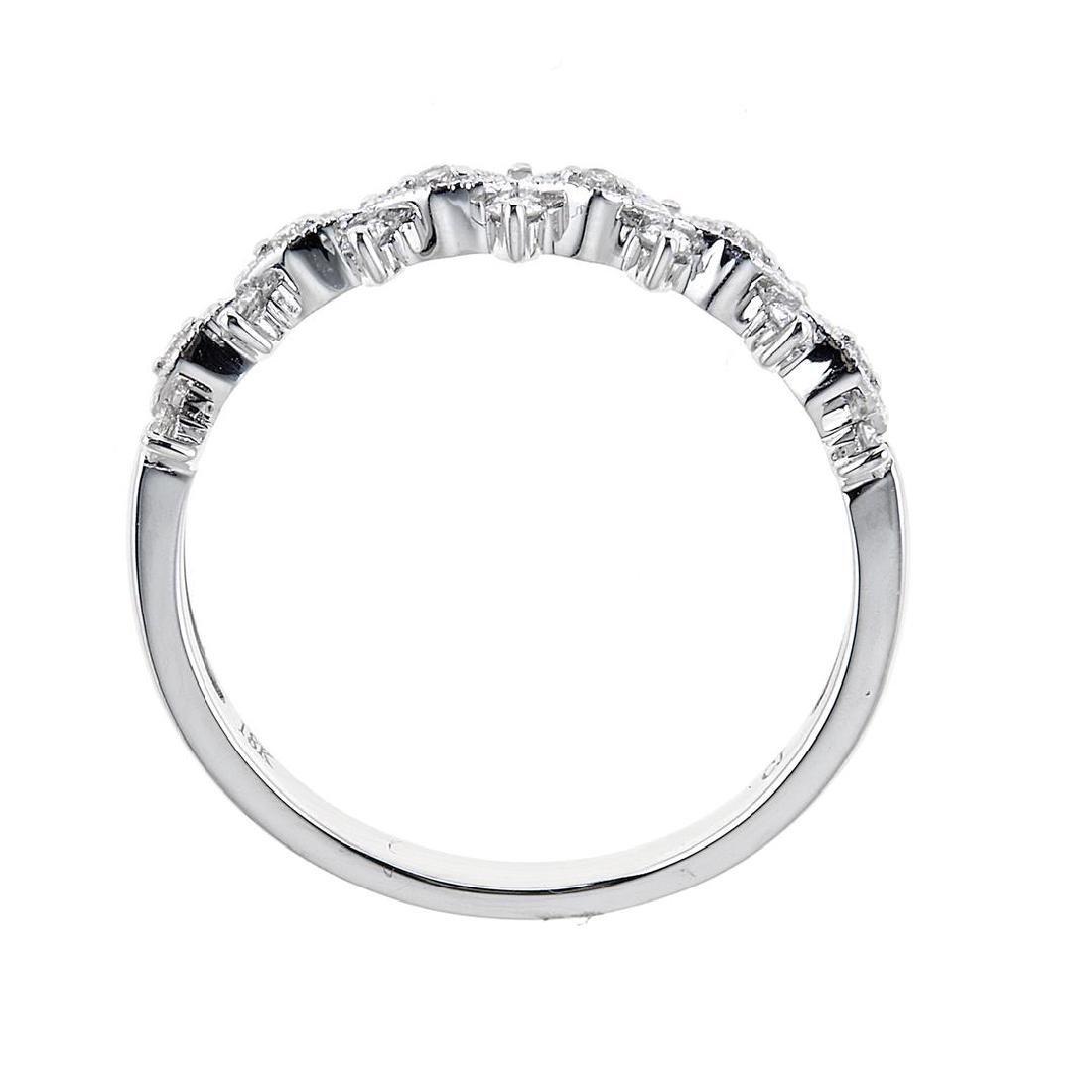0.25 ctw Diamond Ring - 18KT White Gold - 2