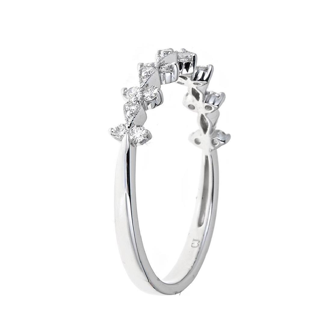 0.25 ctw Diamond Ring - 18KT White Gold - 3