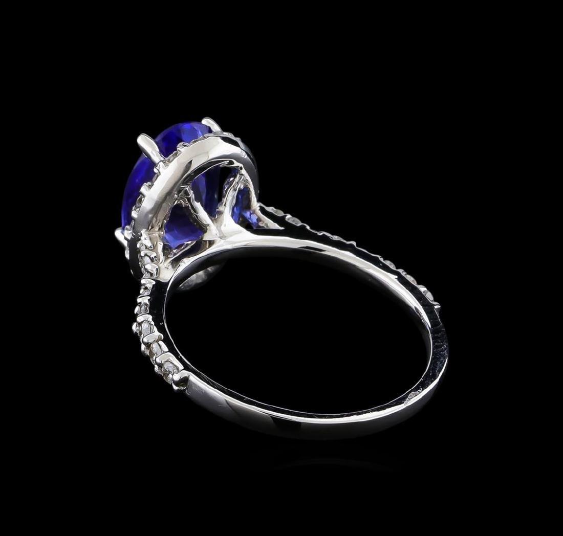 2.60 ctw Tanzanite and Diamond Ring - 14KT White Gold - 3
