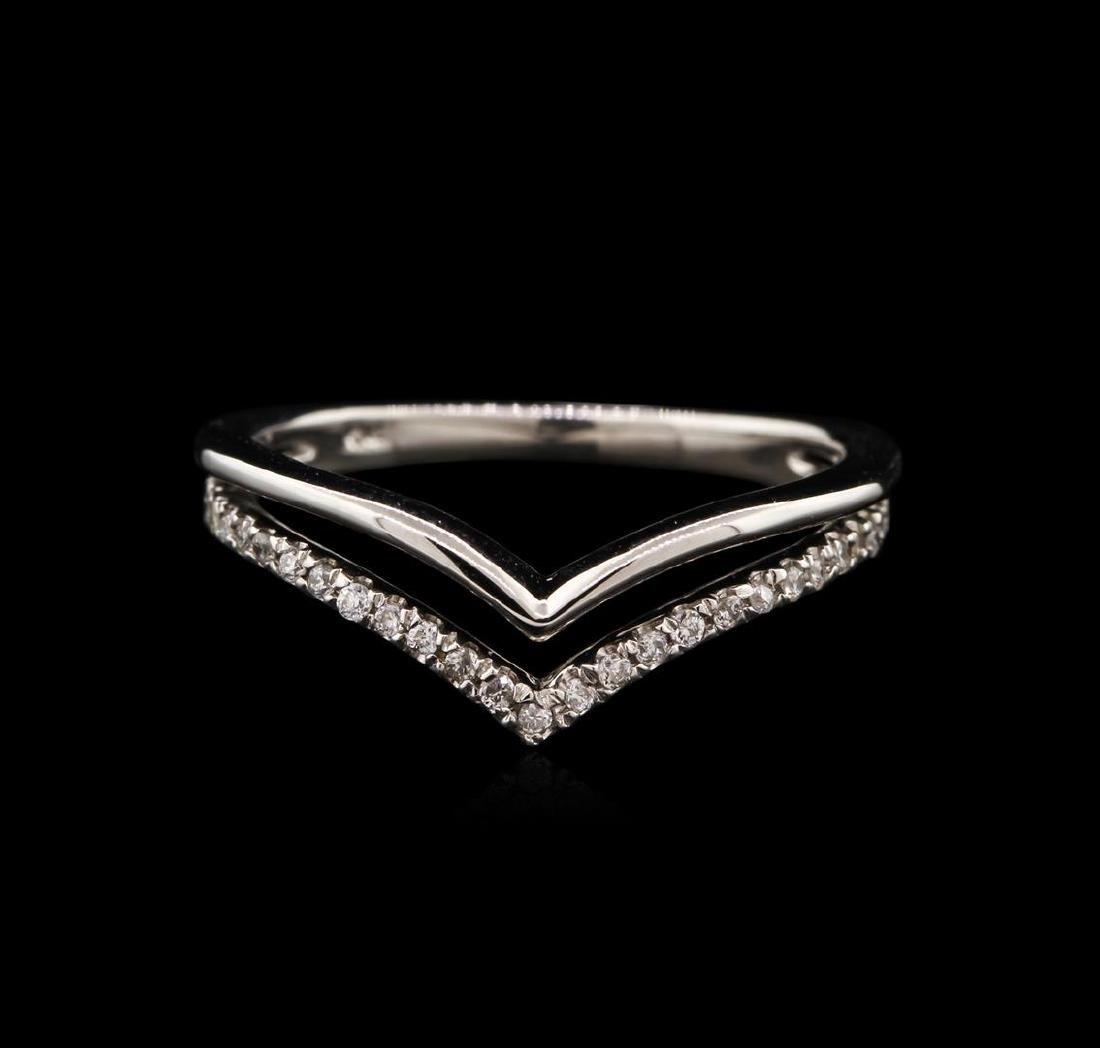 0.13 ctw Diamond Ring - 14KT White Gold - 2