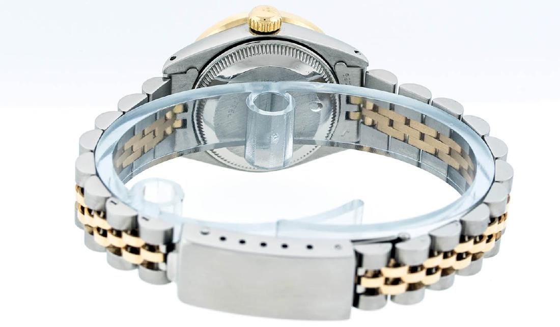 Rolex Ladies 2 Tone 14K Pink Mother Of Pearl Pyramid - 7