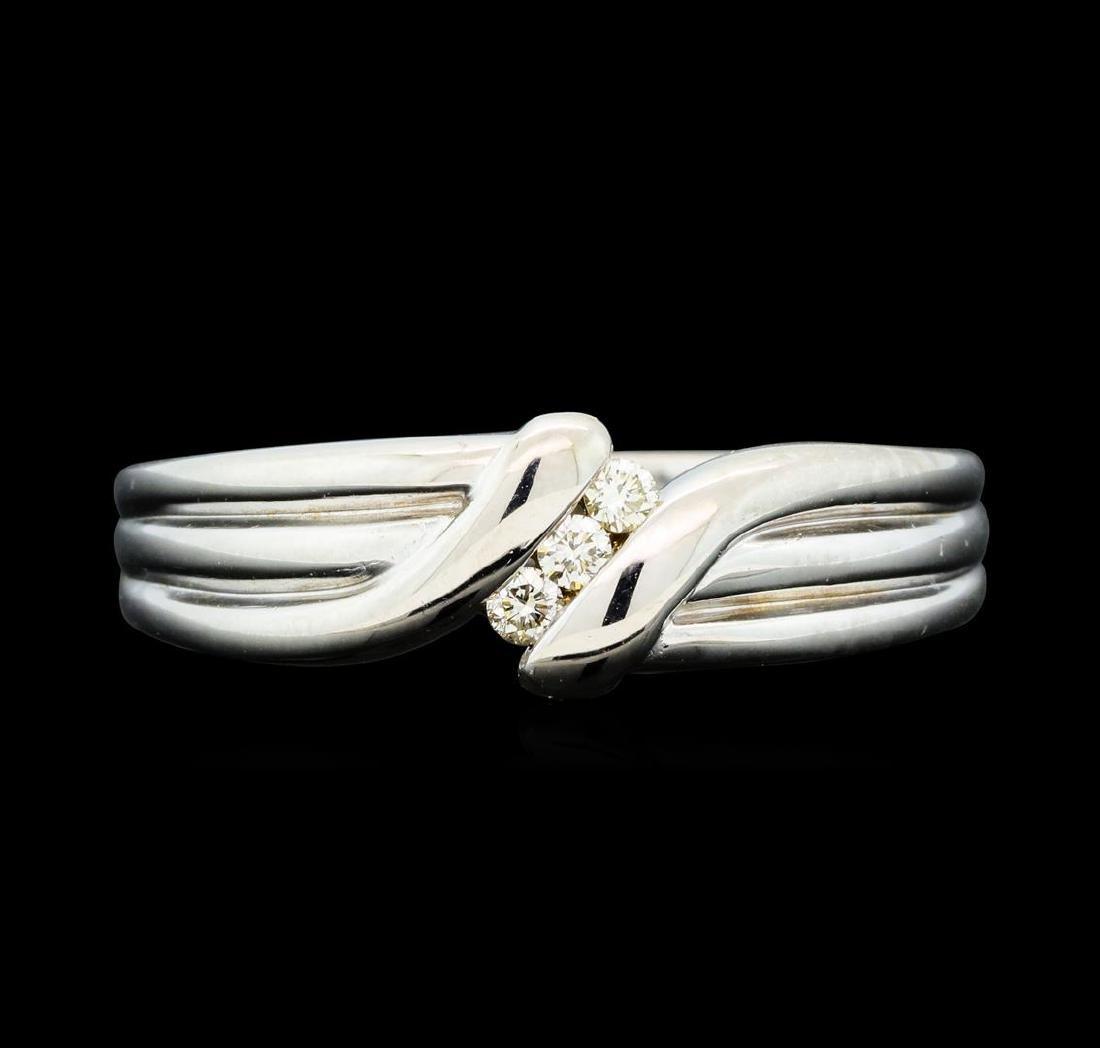 0.25 ctw Diamond Ring - 14KT White Gold - 2
