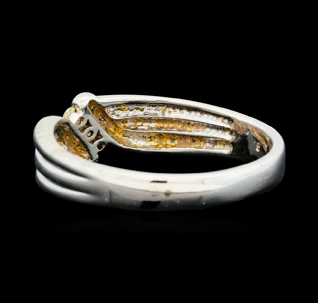0.25 ctw Diamond Ring - 14KT White Gold - 3