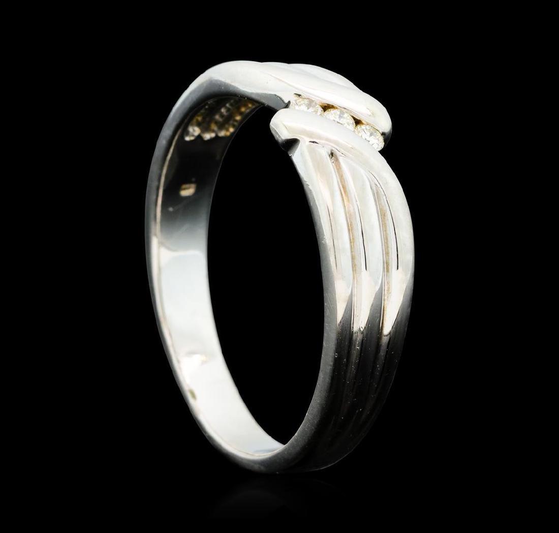 0.25 ctw Diamond Ring - 14KT White Gold - 4