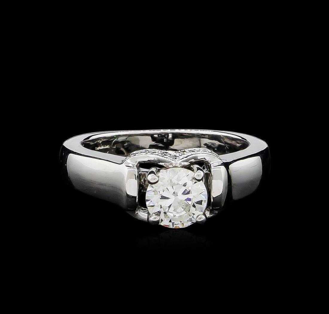 0.86 ctw Diamond Ring - 18KT White Gold - 2