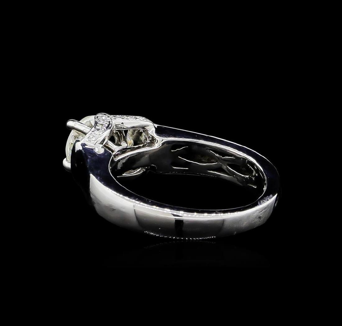 0.86 ctw Diamond Ring - 18KT White Gold - 3