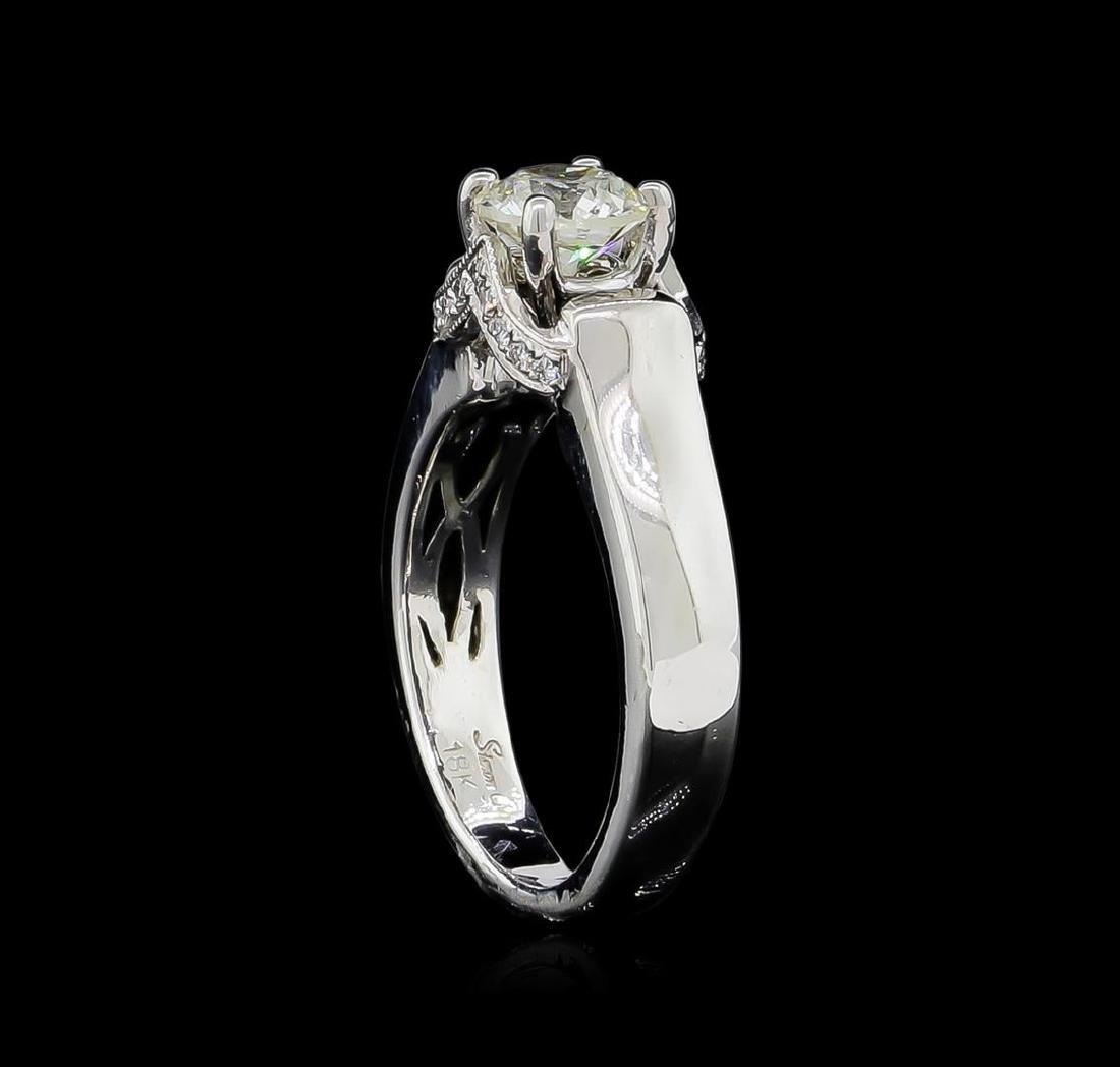 0.86 ctw Diamond Ring - 18KT White Gold - 4