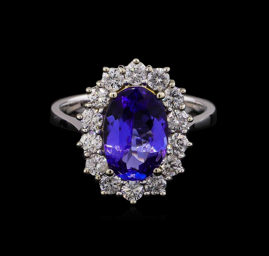 14KT Two-Tone Gold 2.38 ctw Tanzanite and Diamond Ring - 2