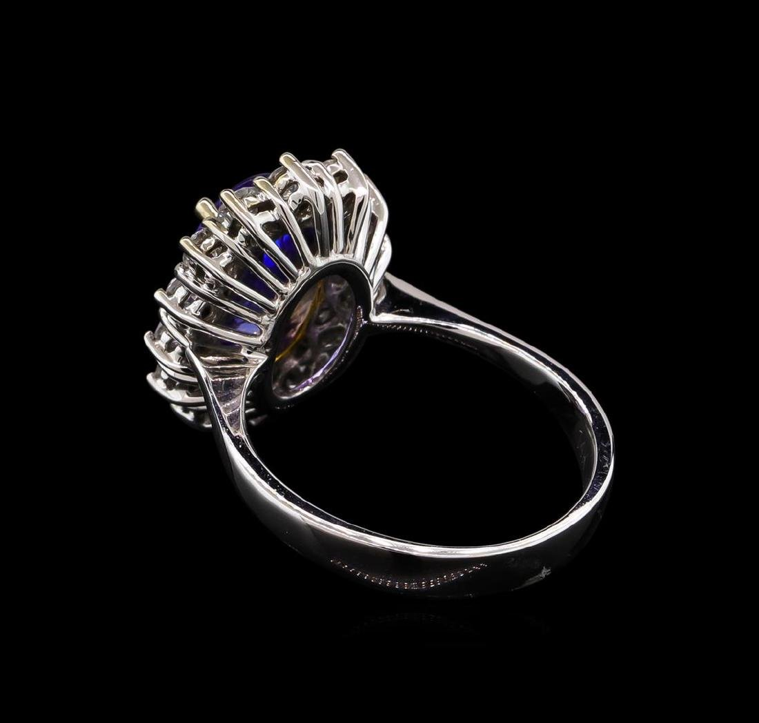 14KT Two-Tone Gold 2.38 ctw Tanzanite and Diamond Ring - 3