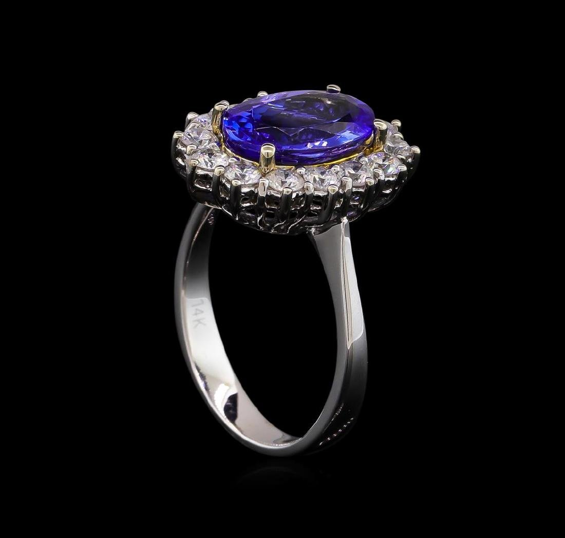 14KT Two-Tone Gold 2.38 ctw Tanzanite and Diamond Ring - 4