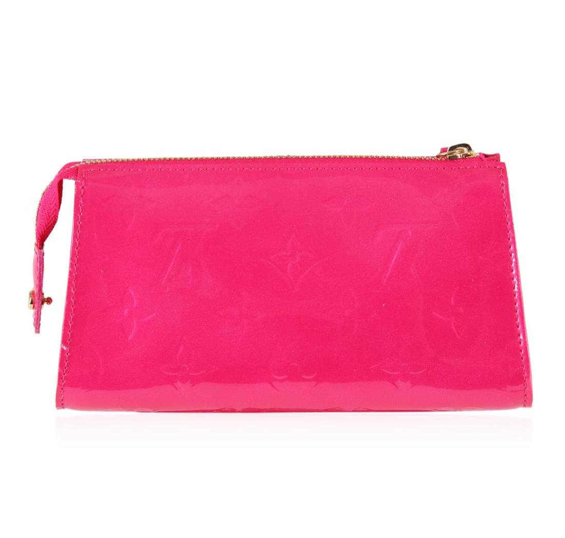 Louis Vuitton Pink Patent Leather Monogram Clutch - 3