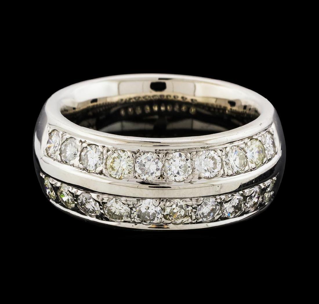 1.70 ctw Diamond Ring - 14KT White Gold - 2