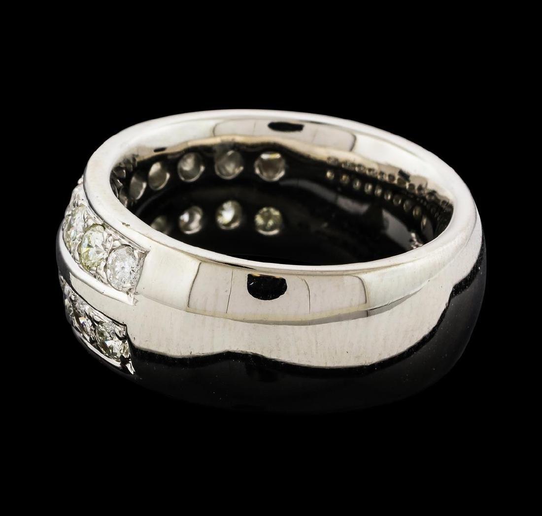 1.70 ctw Diamond Ring - 14KT White Gold - 3