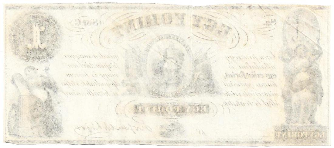 1800's $1 EGY Forint - Obsolete Note UNC - 2