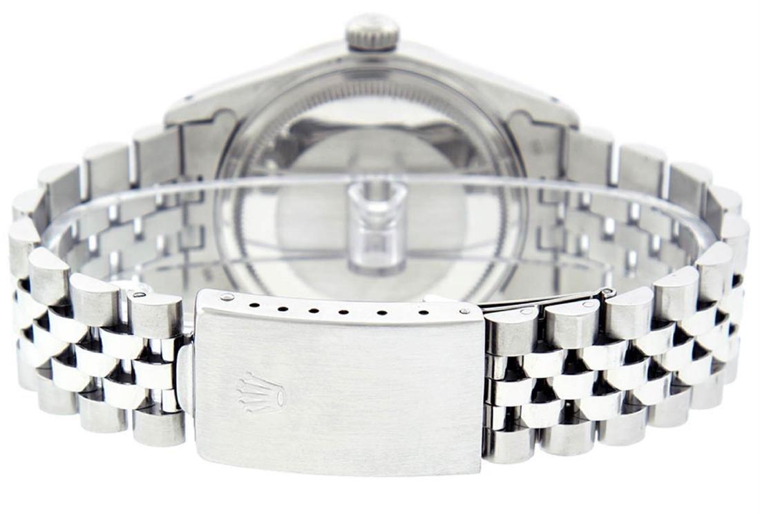 Rolex Mens Stainless Steel Gray Diamond & Ruby Datejust - 7