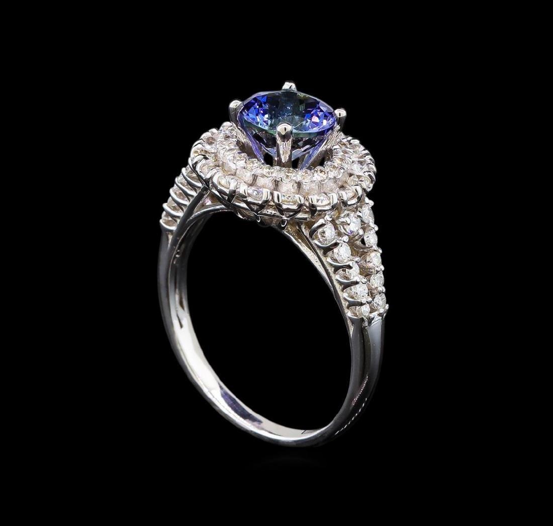 14KT White Gold 1.90 ctw Tanzanite and Diamond Ring - 4