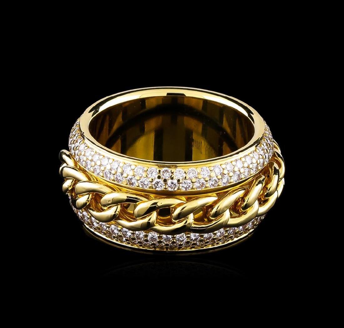1.25 ctw Diamond Ring - 18KT Yellow Gold - 2