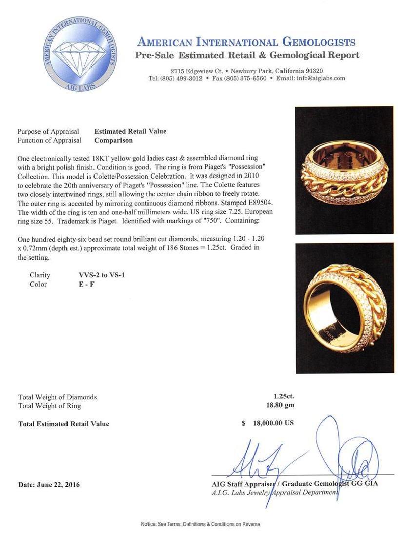 1.25 ctw Diamond Ring - 18KT Yellow Gold - 4