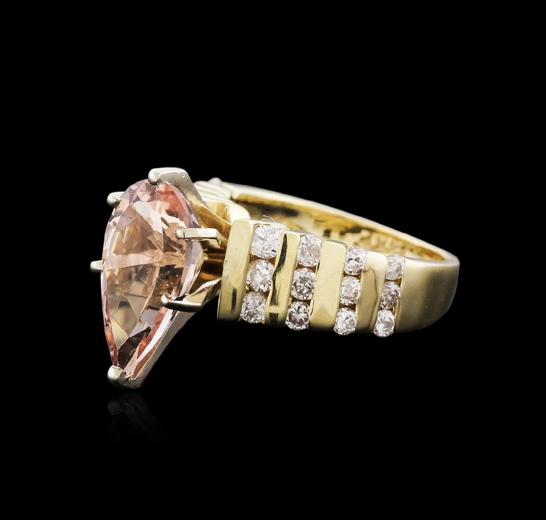 14KT Yellow and White Gold 3.18 ctw Morganite and
