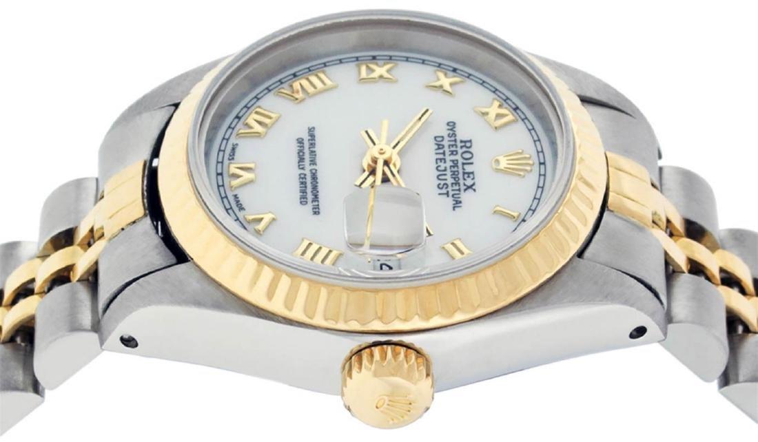 Rolex Ladies 2 Tone 14K White Roman 26MM Datejust - 4