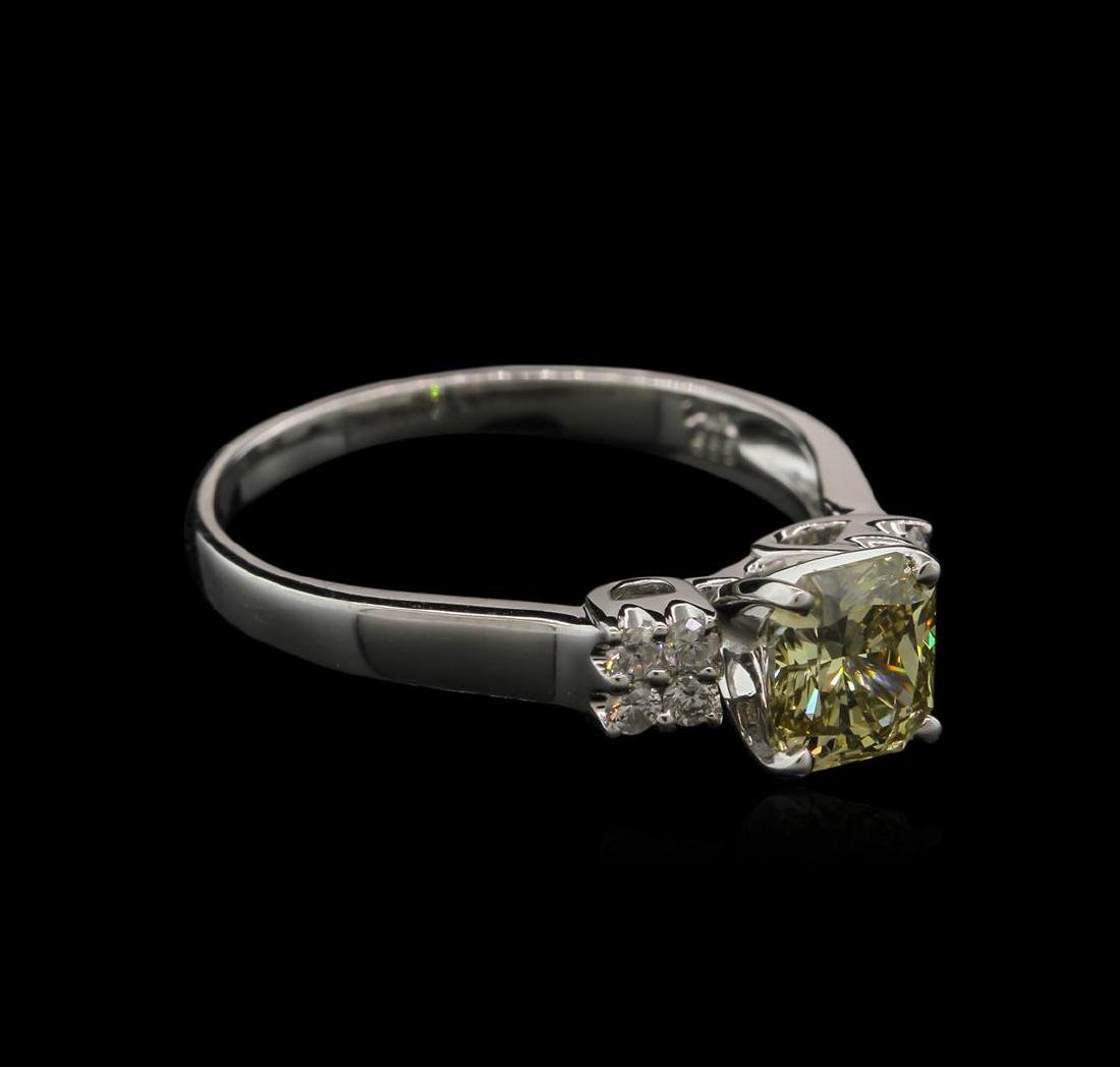 1.21 ctw Fancy Greenish Yellow Diamond Ring - 14KT