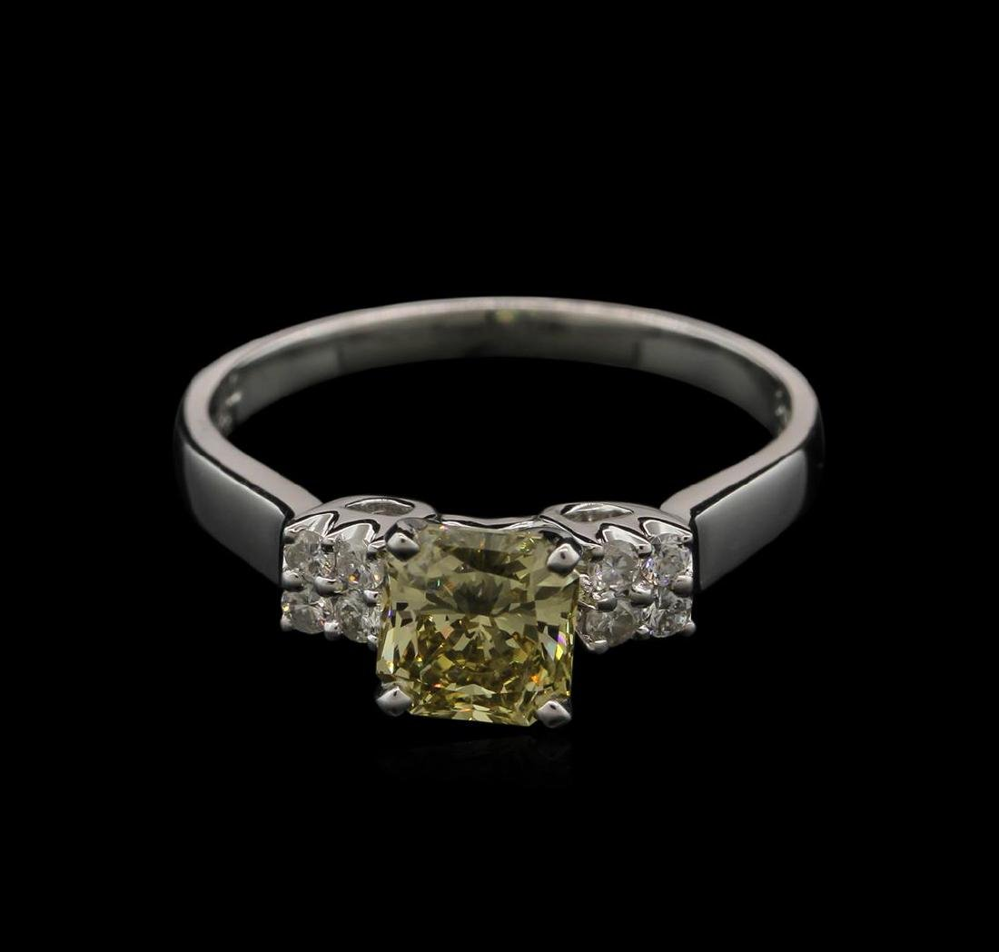 1.21 ctw Fancy Greenish Yellow Diamond Ring - 14KT - 2