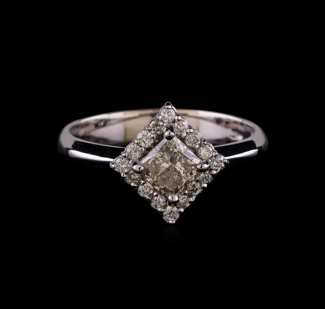 1.01 ctw Diamond Ring - 14KT White Gold - 2