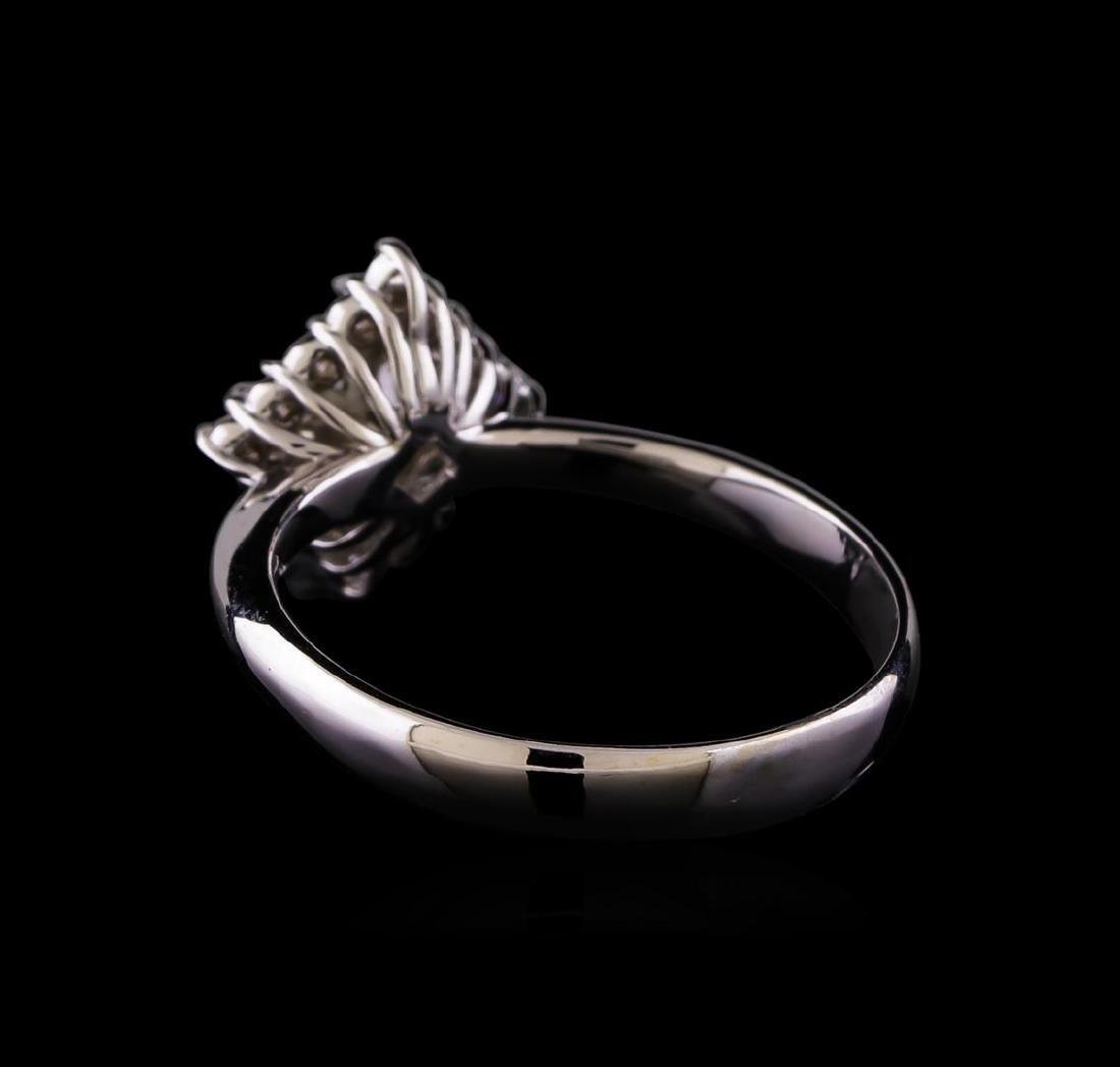 1.01 ctw Diamond Ring - 14KT White Gold - 3