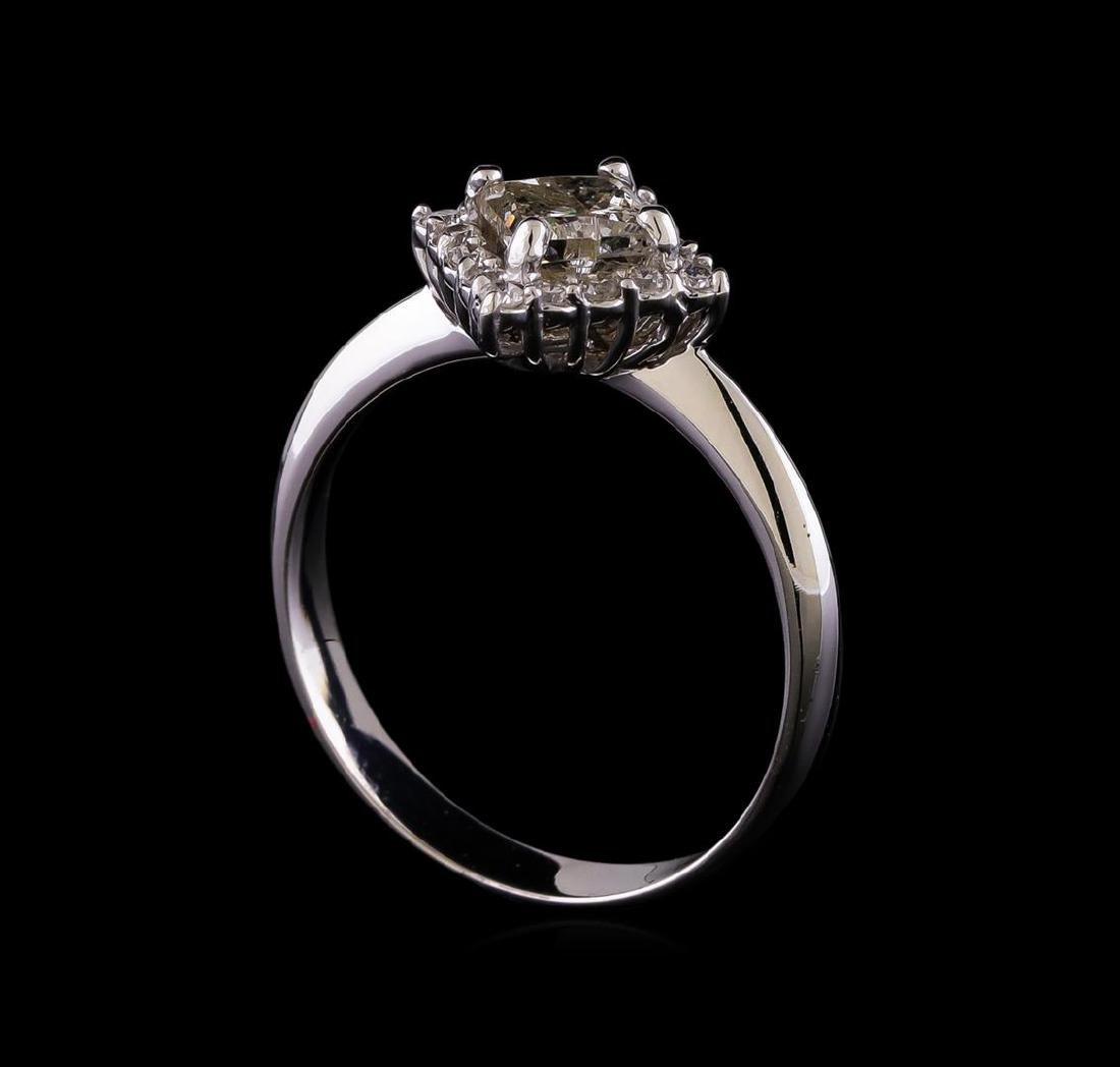 1.01 ctw Diamond Ring - 14KT White Gold - 4