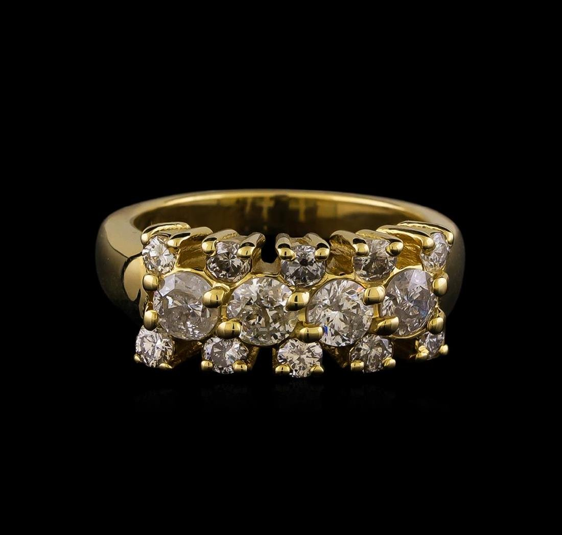 14KT Yellow Gold 0.97 ctw Diamond Ring - 2