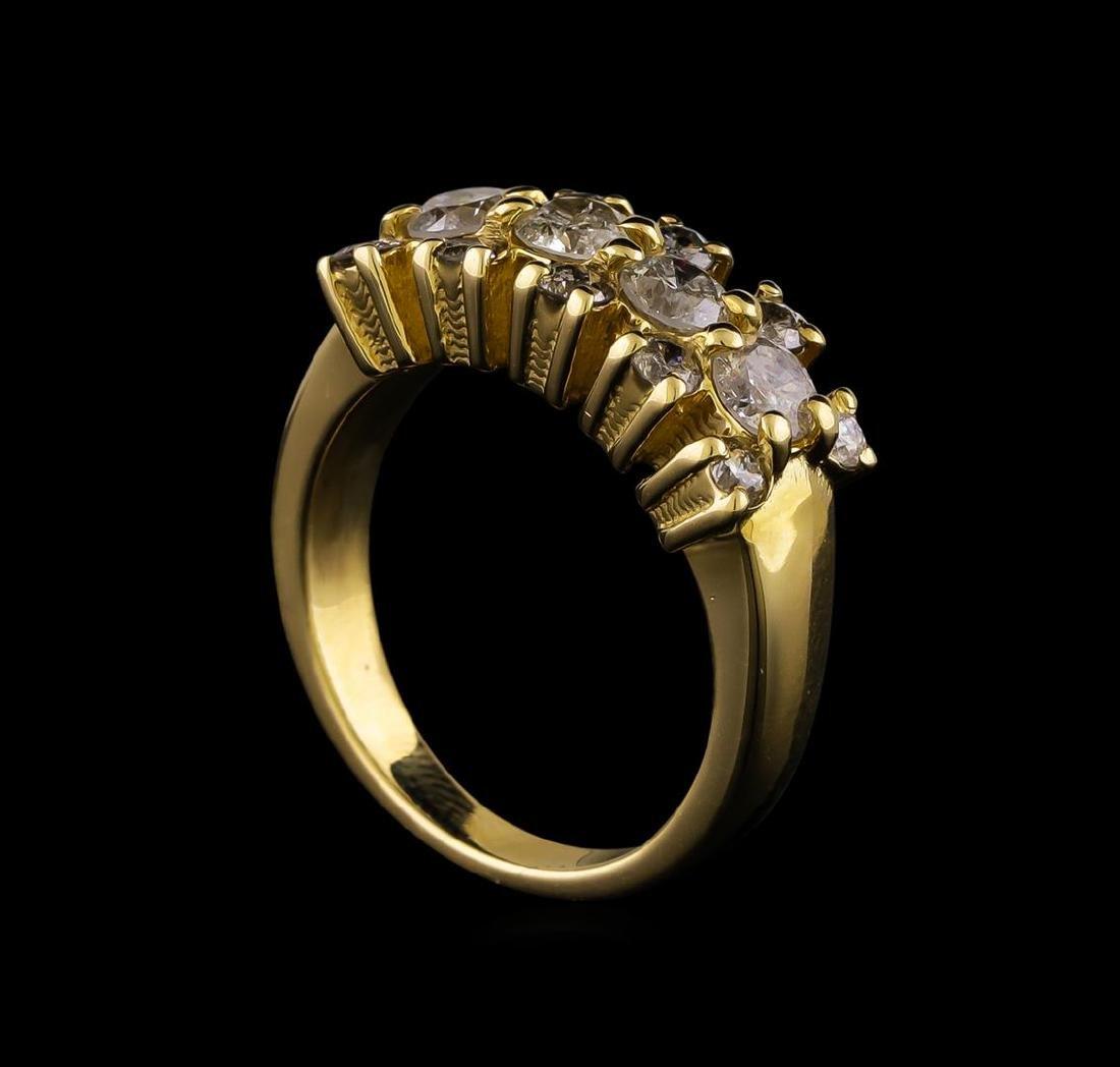 14KT Yellow Gold 0.97 ctw Diamond Ring - 4