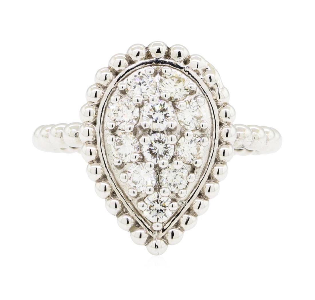 0.62 ctw Diamond Ring - 14KT White Gold - 2