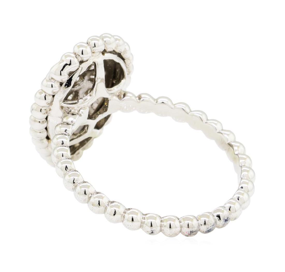 0.62 ctw Diamond Ring - 14KT White Gold - 3