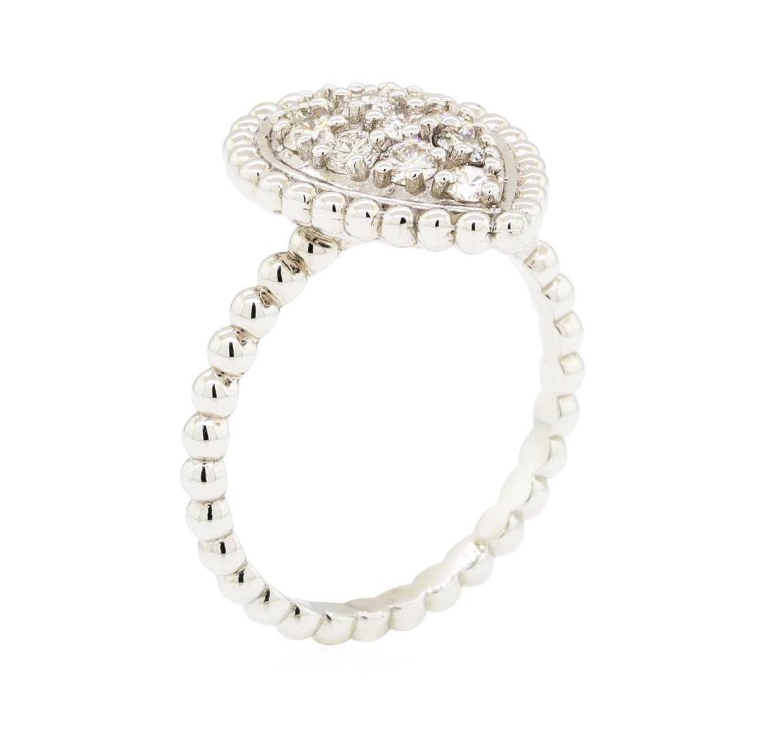 0.62 ctw Diamond Ring - 14KT White Gold - 5