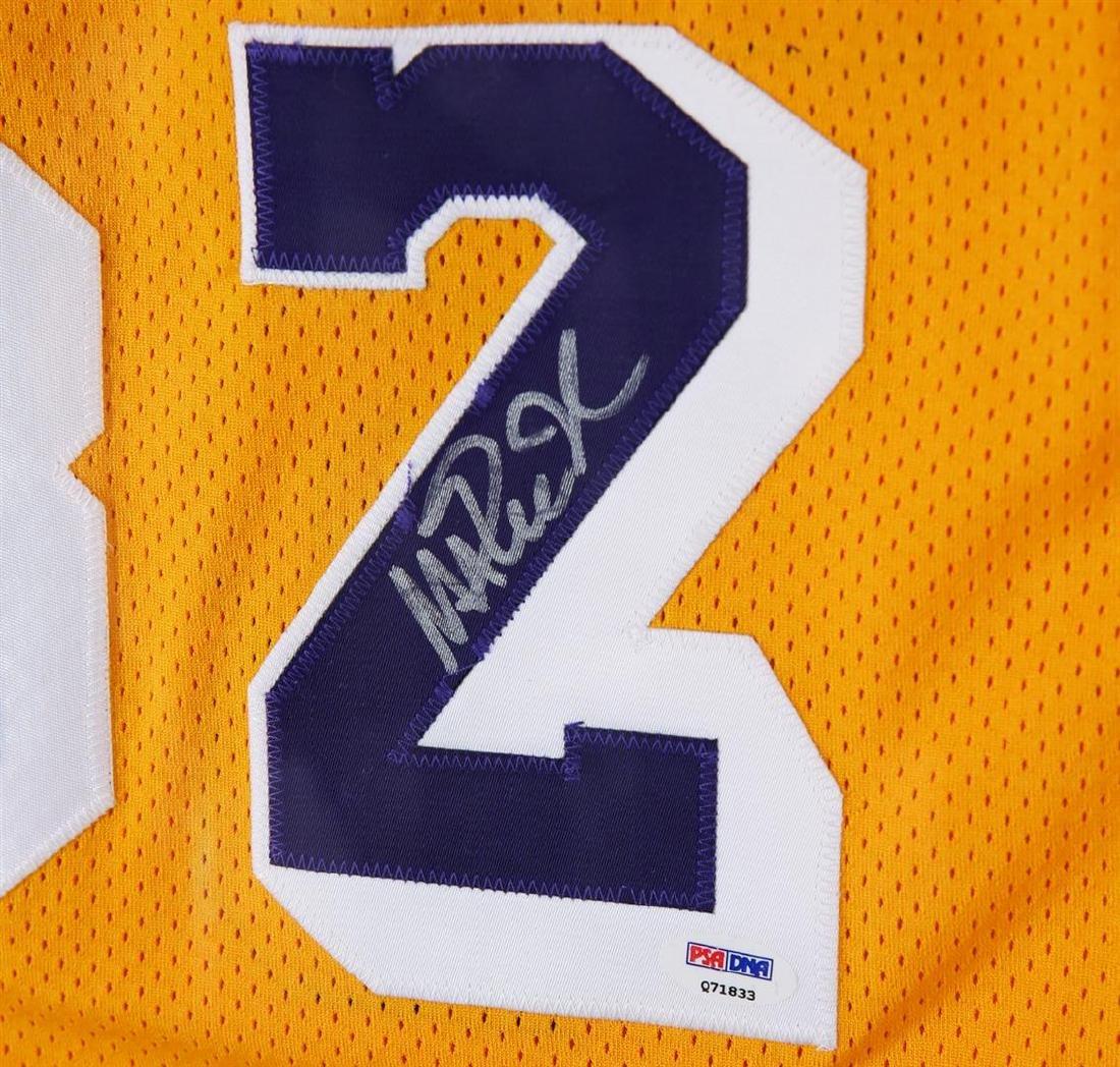 PSA Certified Magic Johnson Autographed Basketball - 2