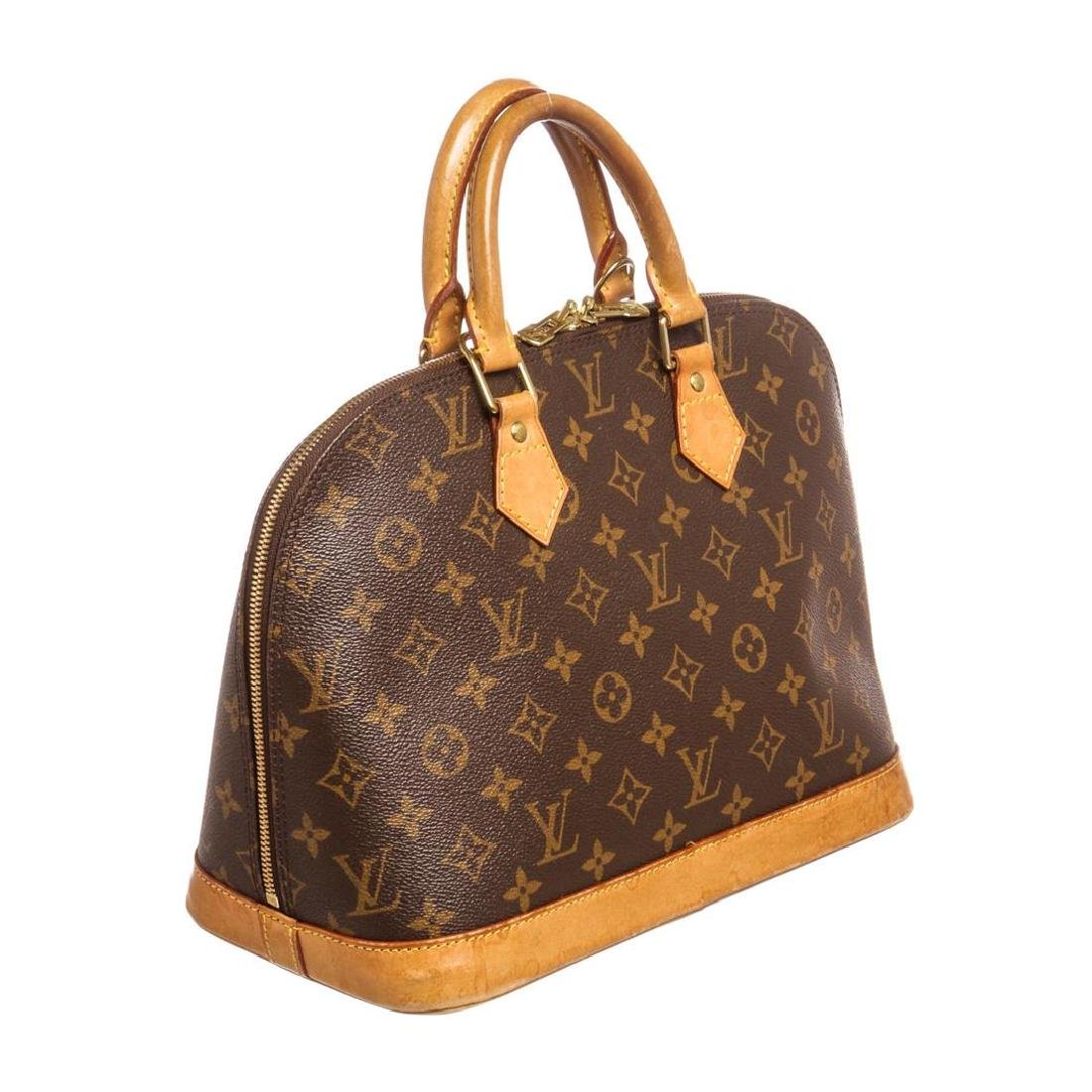 Louis Vuitton Monogram Canvas Leather Alma PM Handbag - 2