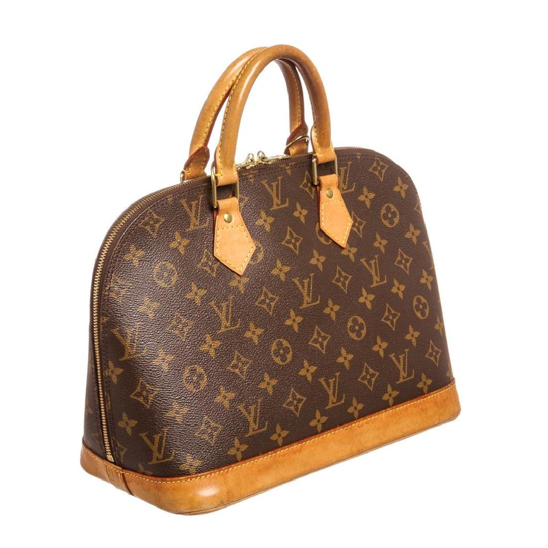 Louis Vuitton Monogram Canvas Leather Alma PM Handbag - 3