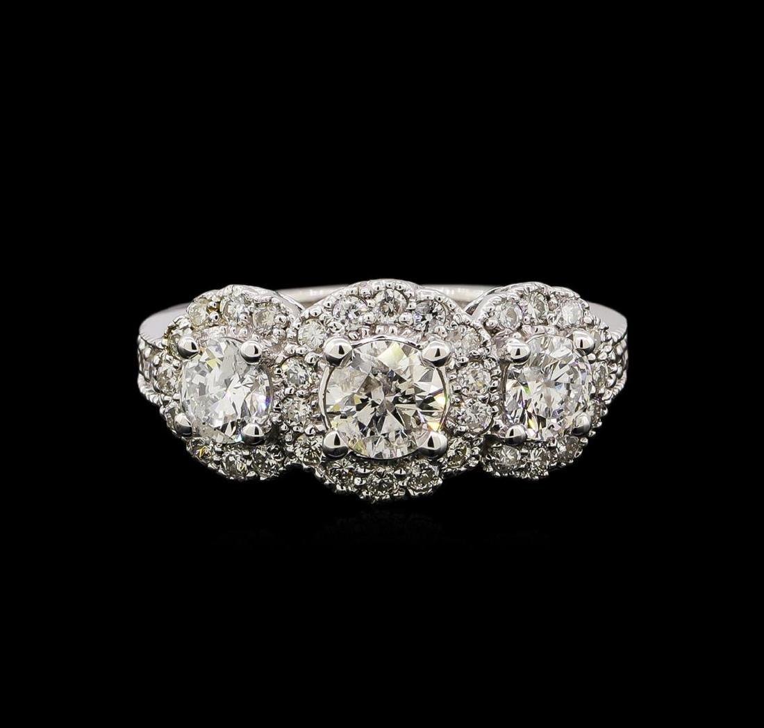 14KT White Gold 1.83 ctw Diamond Ring - 2
