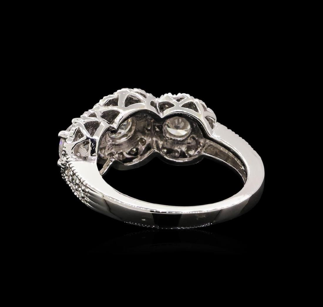 14KT White Gold 1.83 ctw Diamond Ring - 3