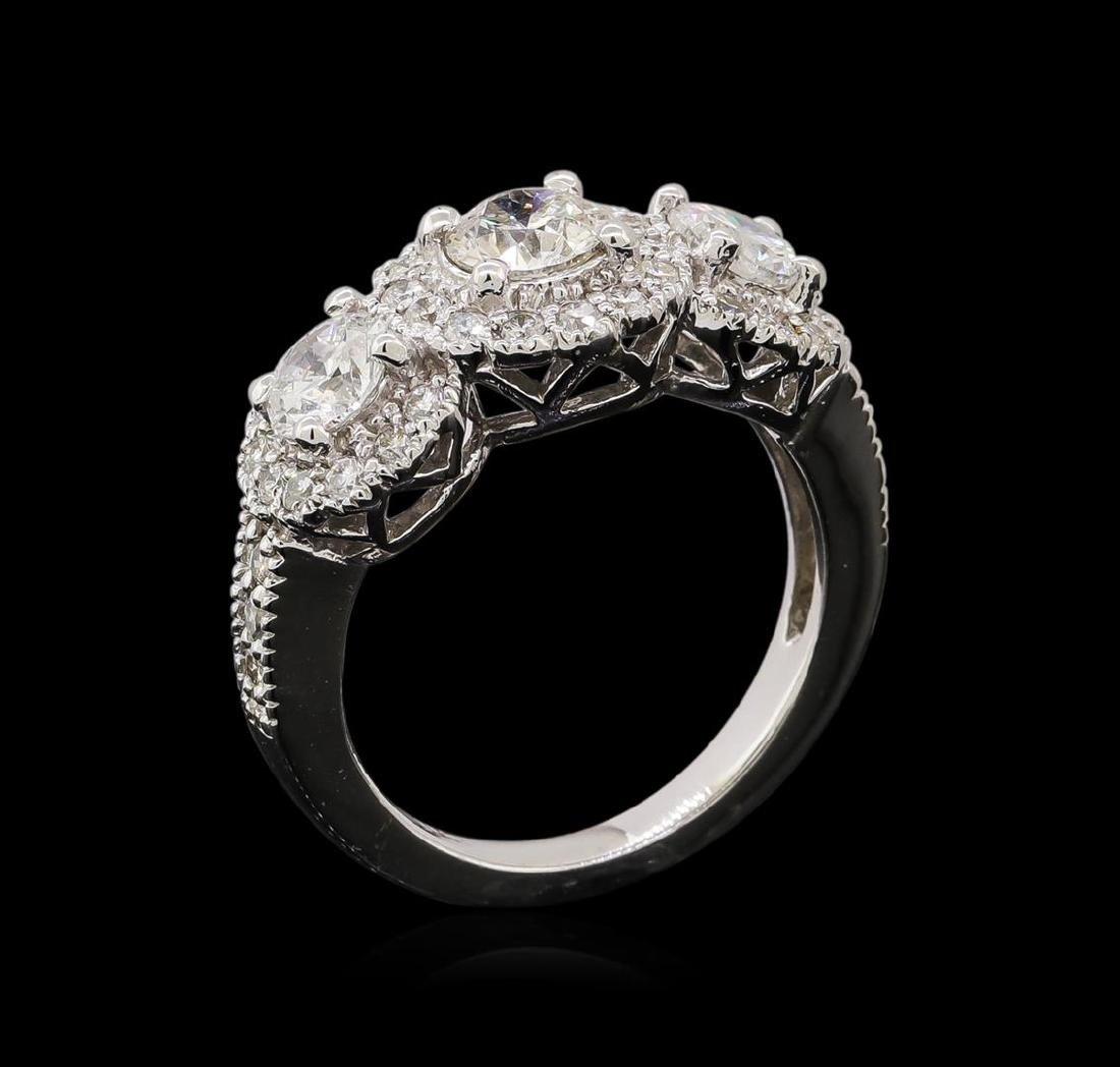14KT White Gold 1.83 ctw Diamond Ring - 4